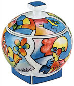 "Sugar bowl ""Jester"""