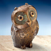 Sculpture 'Little Owl', bronze
