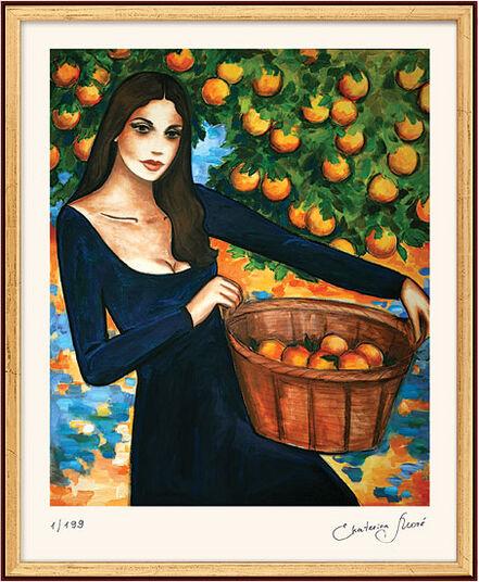 "Ekaterina Moré: Bild ""Orangenduft"", gerahmt"