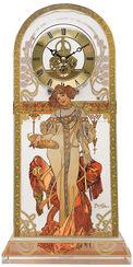 """Tischuhr """"Herbst 1900"""" mit Golddekor"""