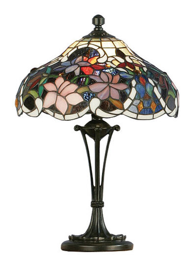 Table lamp 'Clematis - Die Waldrebe' - after Louis C. Tiffany