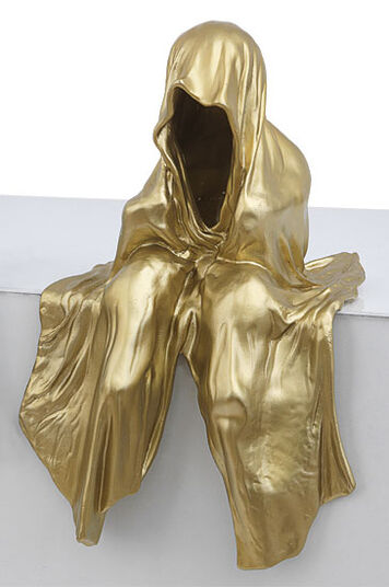 "Manfred Kielnhofer: Figur ""Mini Wächter"" (2012), goldlackierte Version"
