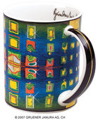 "Magic Mug ""Window's homesickness"" - Heimweh der Fenster, Porzellan"