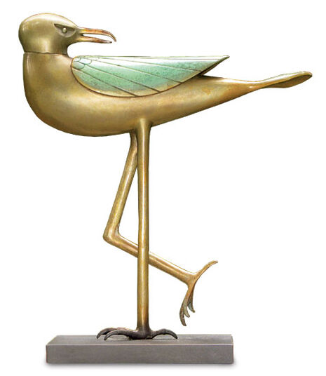 "Paul Wunderlich: Sculpture ""Seagull"", bronze"