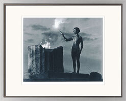 """Bild """"Die Entzündung der Olympischen Flamme"""", gerahmt"""