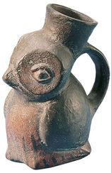 Peruvian owel vase