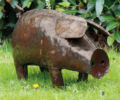"""Gartenfigur """"Hausschwein"""" (große Version)"""