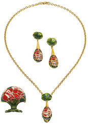 """Jewelry Set """"Rose"""" - after Louis C. Tiffany"""
