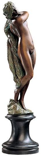 "Gustav Eberlein: Sculpture ""Dancer with Veil"" (1893), Bronze art edition"