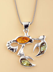 """Amber Necklace """"Cancer"""""""