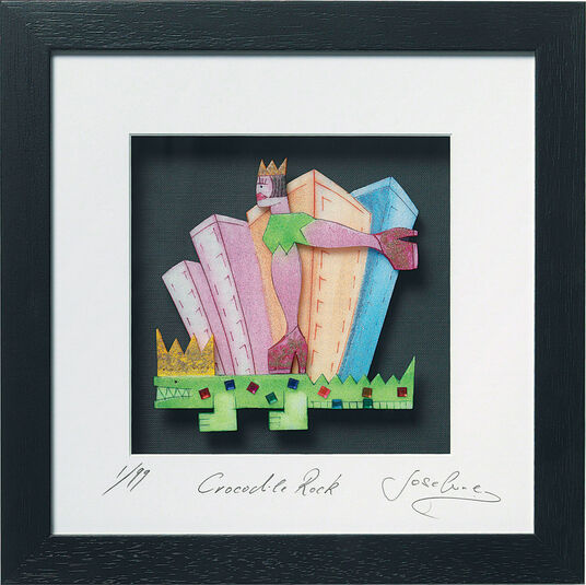 "Josefine: 3D-painting ""Crocodile Rock"""