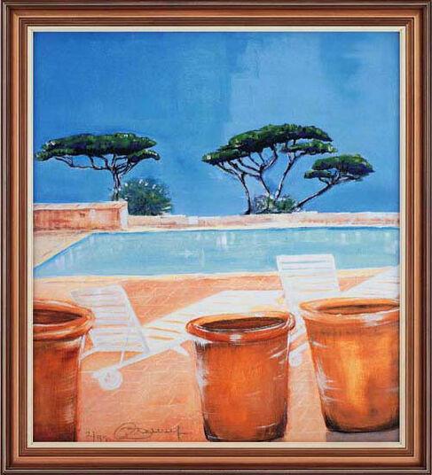 """Annelies Bürgin: Bild """"Pool"""" (1999), ungerahmt"""