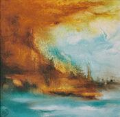 "Bild ""Stormy Waters Lagune"" (2008) (Original / Unikat), ungerahmt"