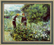"Painting ""Flower Picking"" (1875) in a frame"