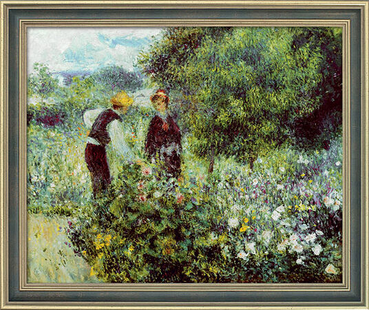 "Auguste Renoir: Painting ""Flower Picking"" (1875) in a frame"