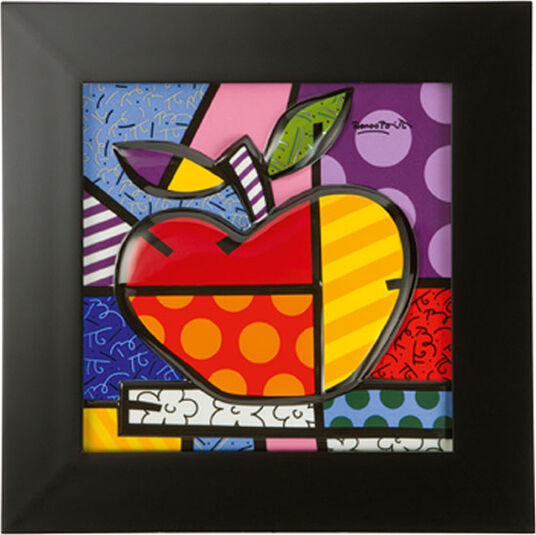 "Romero Britto: 3D-Bild ""Big Apple"", Porzellan"