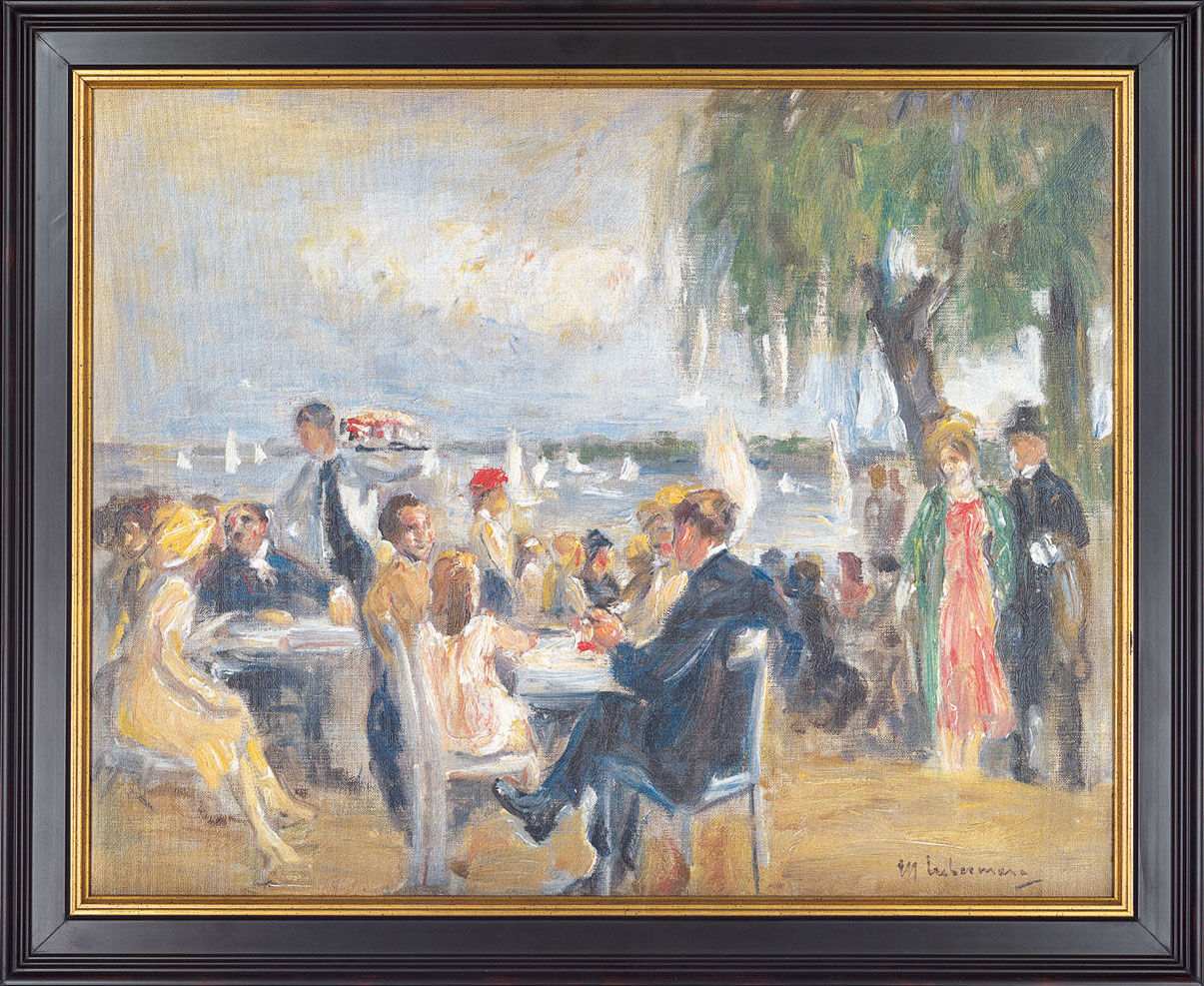"Picture ""Gartencafé on Elba"" (1902)"