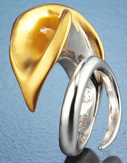 """Bruno Bruni: """"Der Ring der Liebe"""", 925er-Sterlingsilber bicolor"""