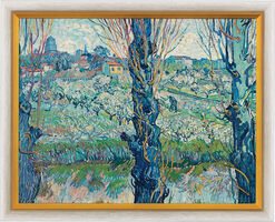 "Painting ""A View on Arles"" (1889), Framed"