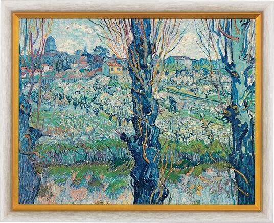 "Vincent van Gogh: Bild ""Blick auf Arles"" (1889), gerahmt"