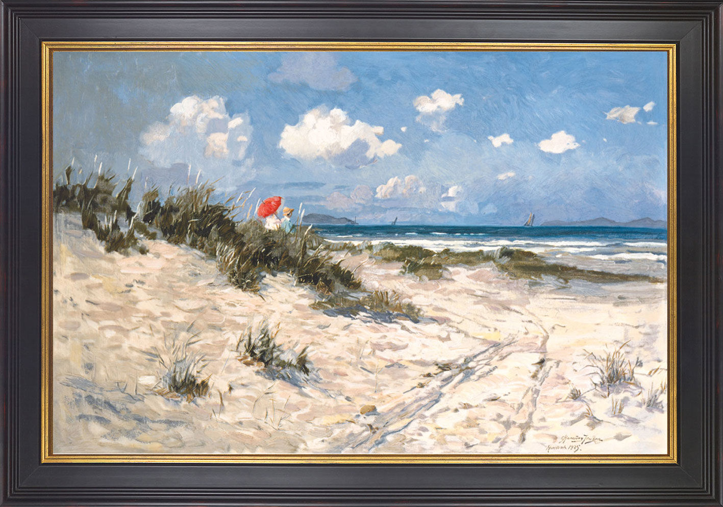 "Picture ""At the beach of Hornbaek"""