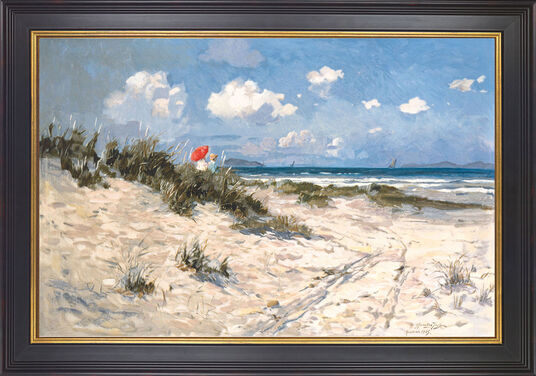"C. Hornung-Jensen: Picture ""At the beach of Hornbaek"""