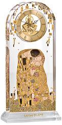 """Tischuhr """"Der Kuss"""" mit Golddekor"""