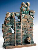 "Skulptur ""Verliebte Mauersegler"" (1999), Bronze"