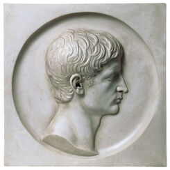 Relief portrait of Augustus, art casting