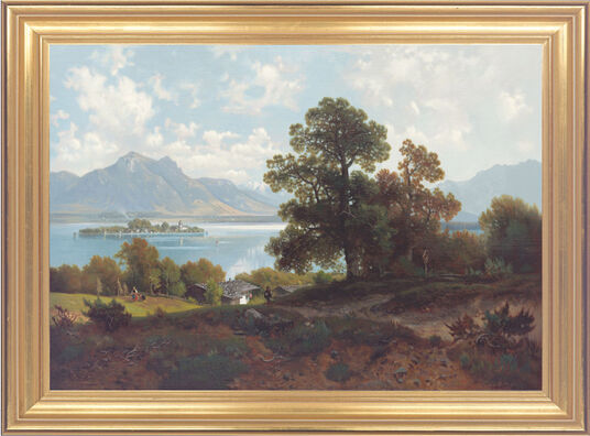 Ludwig Sckell: Painting 'On the Chiemsee'