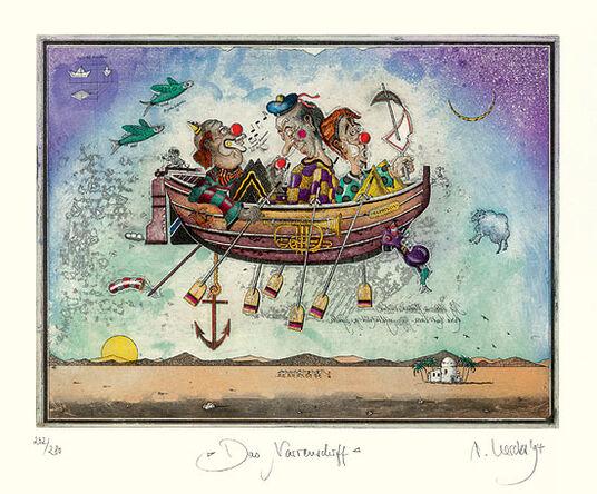 "Rainer Hercks: Bild ""Das Narrenschiff"" (1994)"
