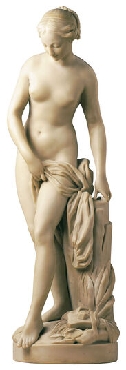 "Etienne-Maurice Falconet: Sculpture ""Bathing"" (original size), polymer marble"