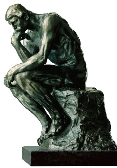 "Auguste Rodin: Sculpture ""The Thinker"", 38 cm, bronze"