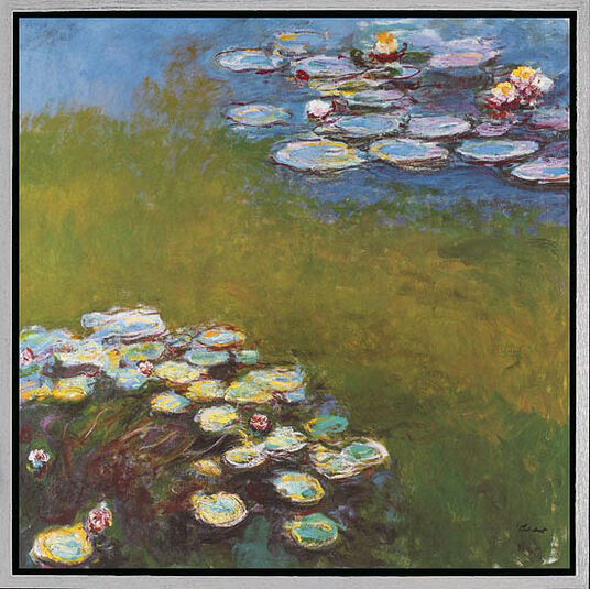 "Claude Monet: Picture ""Waterlilies I"" (Nympheas 1914-17)"