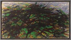 """Bild """"Kleine grüne Landschaft"""" (1980) (Unikat)"""