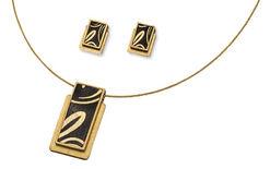 Jewelry set 'Golden Line'