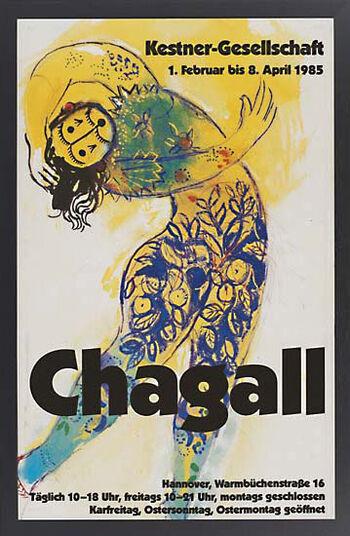 Marc Chagall: Arbeiten auf Papier. 01.02.-08.04.1985, gerahmt
