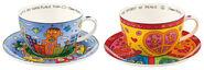 2 Cappuccinotassen mit Künstlermotiven im Set
