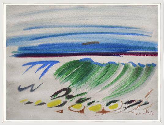 "Siegward Sprotte: Bild ""Farbige Kalligraphie"" (1987) (Unikat)"