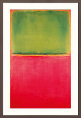 "Bild ""Green Red on Orange"" (1951), gerahmt"