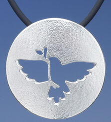 "Necklace ""Dove of peace"", 925 Sterling Silver"