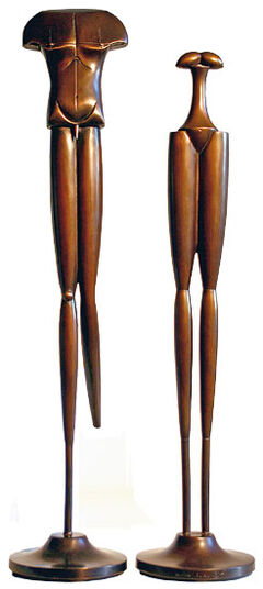 "Paul Wunderlich: Sculptural Pair ""Liaison"", Bronze"