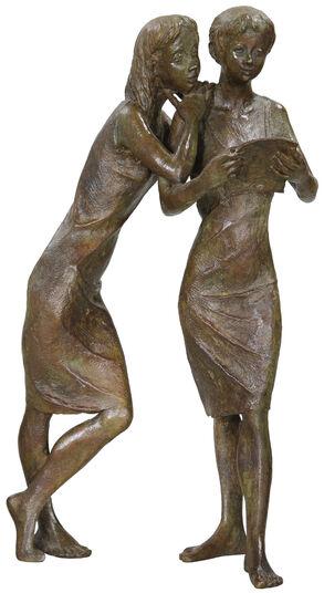 """Jürgen Ebert: Skulptur """"Der Brief"""", Bronze"""