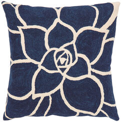 "Cushion Cover ""Blue Rose"""