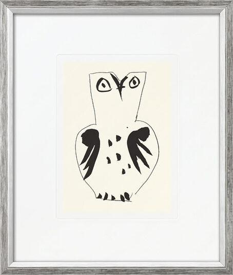 """Pablo Picasso: Bild """"Eule"""", gerahmt"""