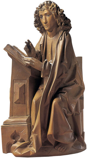 "Tilman Riemenschneider: Sculpture ""Evangelist John"" (Reduction), Artificial Casting"