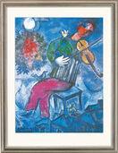 """Painting """"Le Violoniste Bleu"""" (1947)"""