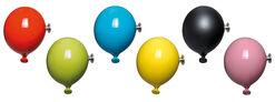 """6-teilige Garderobe """"Mini Balloons"""", Keramik"""