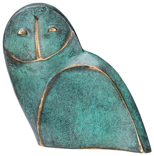 """Raimund Schmelter: Sculpture """"Owl"""", bronze"""