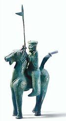 """Skulptur """"Pferd und Reiter mit Lanze"""" aus der """"Prozession der Ehrengarde"""""""